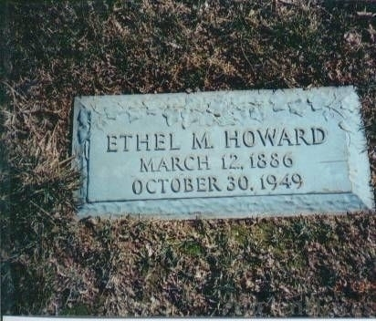 Ethel Marie Kelly Howard Gravestone