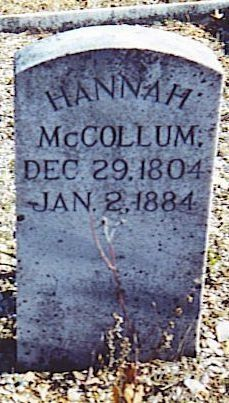 Burial Place of Hannah (Cantrell) McCollum