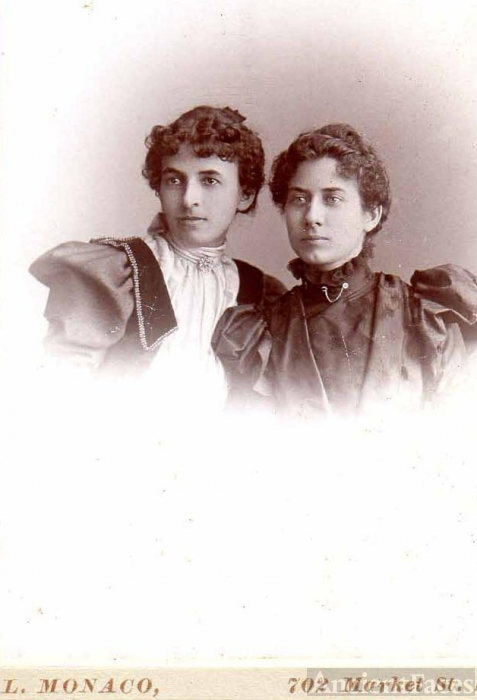 Hattie Peters & Mamie Peters in 1897