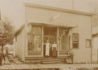 Henry David Schlarb store, Nebraska 1899