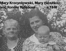 Mary (Sositko) Ridenour with her son and Aunt Mary