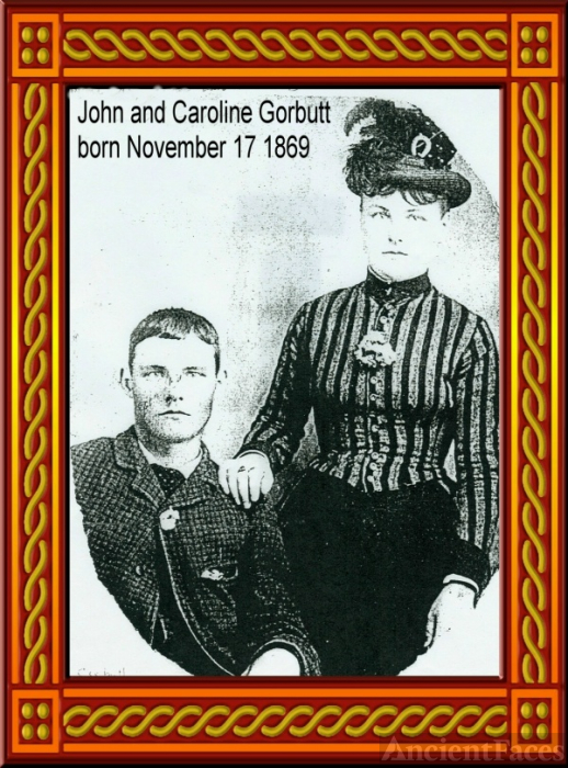 Twins John & Caroline Children of Robert Gorbutt and Elizabeth Gorbutt nee Kirkpatrick