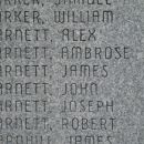 Barnetts on plaque @ Ft. Boonesborough, KY