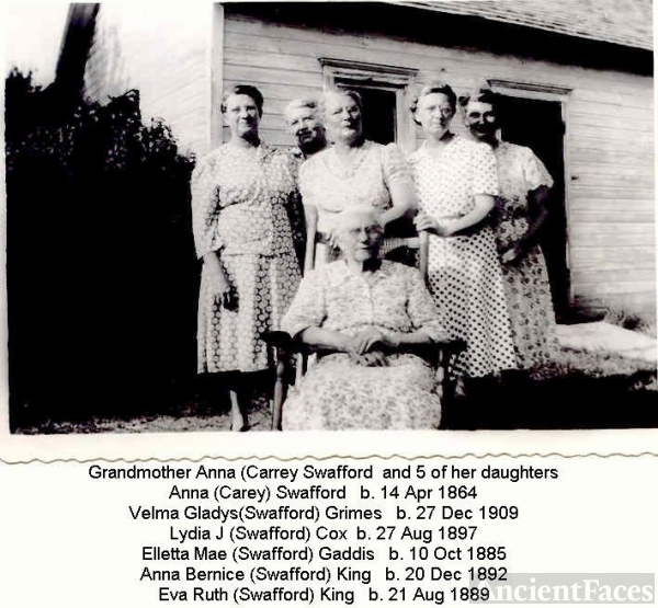 Anna (Carey) Swafford & 5 Daughters