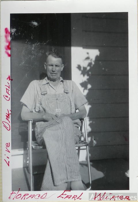 Horace Earl Wicker on Porch