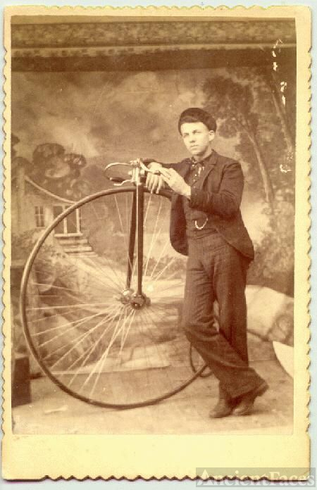 Grandfather With  Bicycle