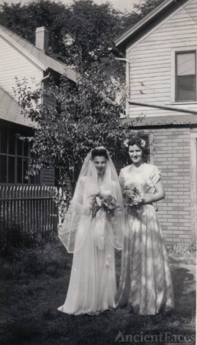 Lucille Steffen on her Wedding Day