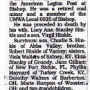 Obit of Walter Hinkle