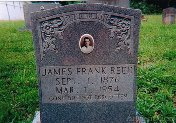 Tombstone of James Franklin Reed