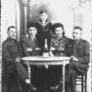 John James Latham (sitting left) Royal Engineers- Libercourt France 1939-40 (WWll) just before Dunkirk Evacuation May 1940