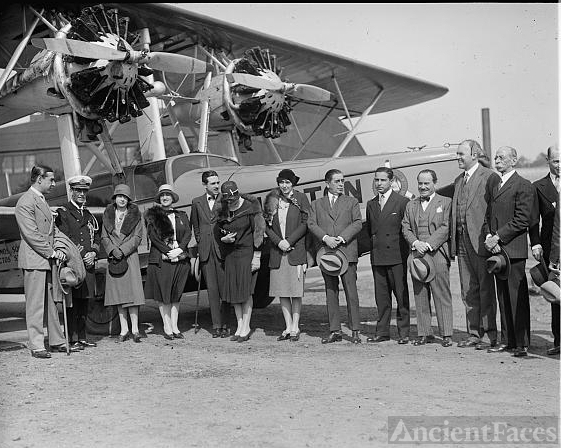 Christening a So. American Air Way plane, 5/23/29