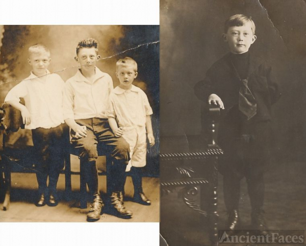 Carroll,Myron,Stanley,young sons of Olaus Syverson
