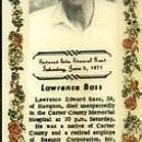 Obituary of Lawrence Edward Bass