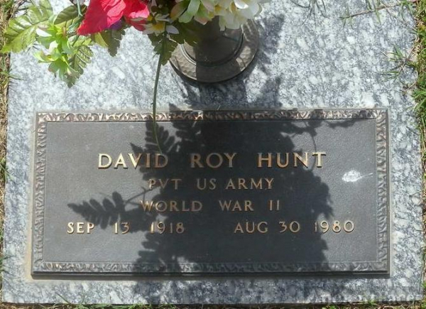 David Roy Hunt headstone