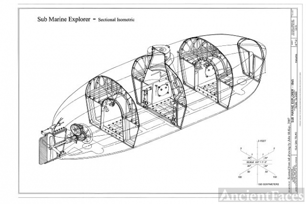 Section Isometric - Sub Marine Explorer, Located along...