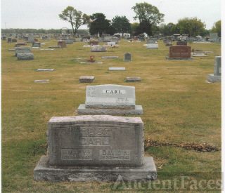 The Tombstones of David A. and Mary (Williams) Carl and Their Grandson, Arthur L. Carl
