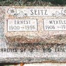 Grave of Ernest and Myrtle Seitz