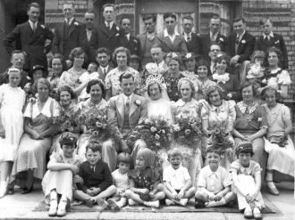 Wedding of Andrew Robert John Newbold and Rose Violet Fox in 1937