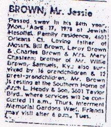 jesse brown obit