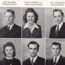 Louise Loumas and Graduating Seniors 1945