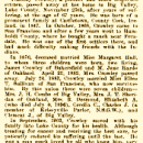 Timothy Crowley obituary California 1914
