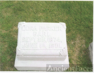 The Tombstone of Dora (Parker) Carl (Sep 25, 1874-June 13, 1901)