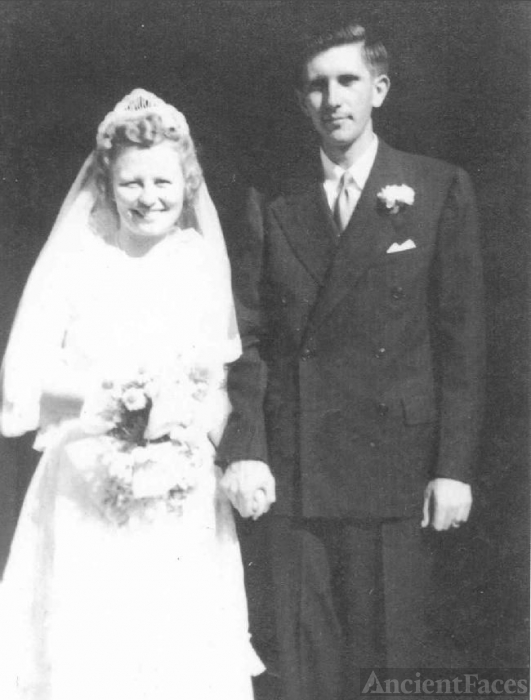 Grace and Harry Schmielau on their wedding day