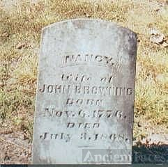 Nancy Peebles Browning Gravestone