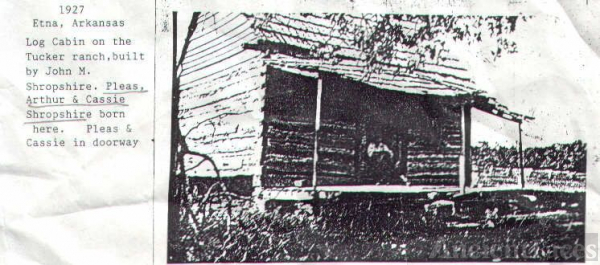 Log Cabin built by John Shropshire