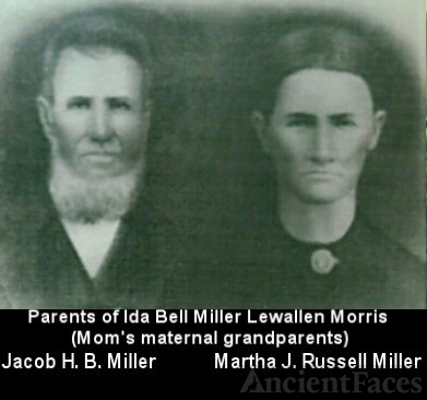 Jacob H. B. Miller and Martha Jane Russell Miller