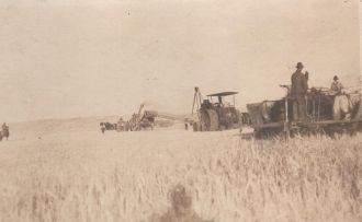 Parker Reeper Steam Tractor & Threshing Machine