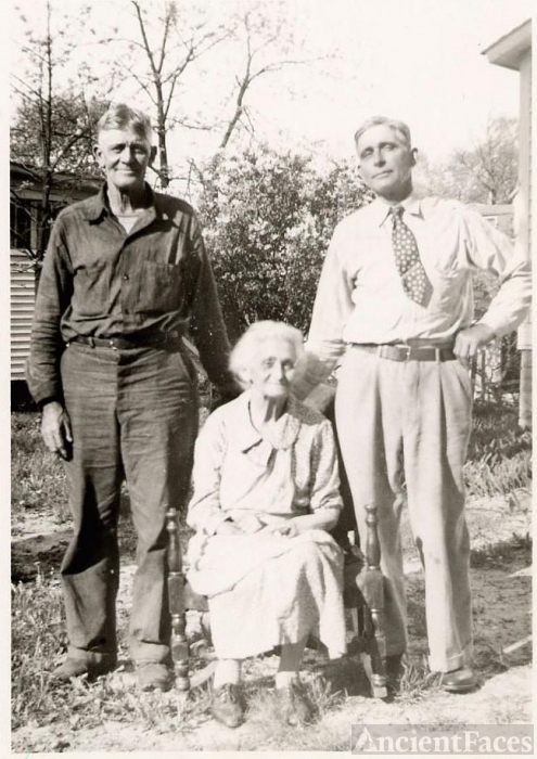 Andrew and Milford Childers with their  mother