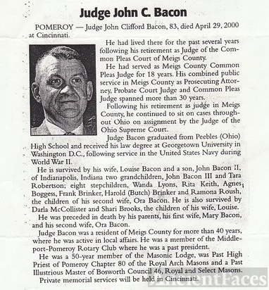 John C Bacon Obituary