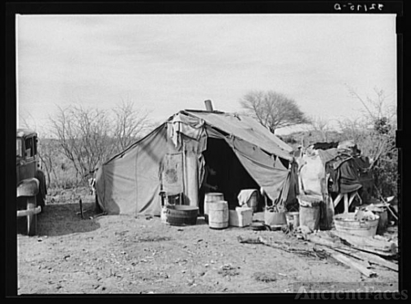 White migrant camp near Mercedes, Texas. See 32108-D
