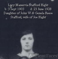 Lucy Manervia Stafford Hight
