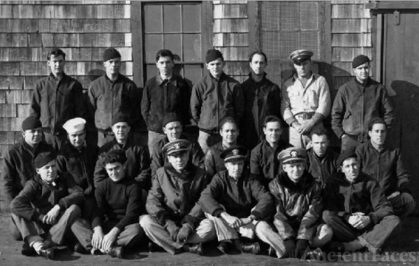 US Navy crew in Nova Scotia, Jan 1943
