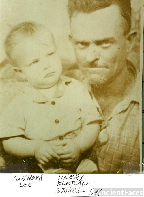 Henry Fletcher Sr with Son Willard Lee Stokes