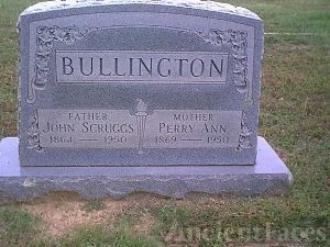 Gravesite John Bullington & Parrish Ann Jones