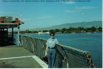 Cynthia 'Candy' Basham King Brown - USS Samuel Gompers