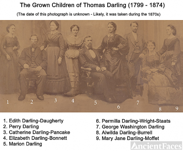 Grown children of Thomas Darling - Group Portrait