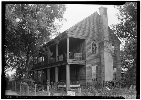 W.N. Manning photo of Irwinton Inn, 1935 Alabama, front