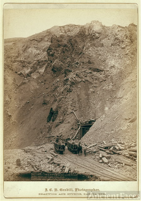 Open cut in the great Homestake mine, at Lead City, Dak.