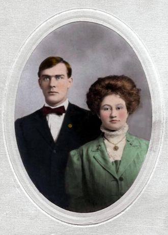 Blanche Molher and husband Harry on their wedding day
