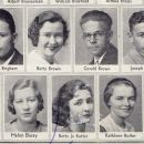 Joseph Brucia and Seniors from Lowell High School 1933