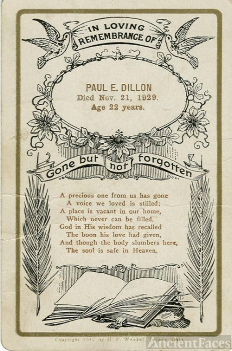 PAUL DILLON DEATH NOTICE