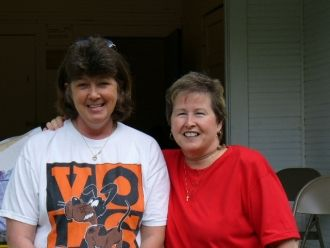 A photo of Kathy Cochran Grady and Yvonne Maggard