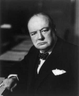 A photo of Winston Leonard Spencer Churchill