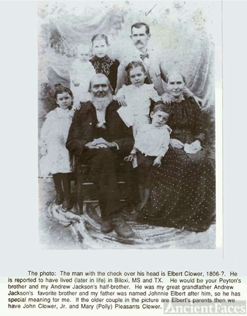 Elbert Clower family, Texas