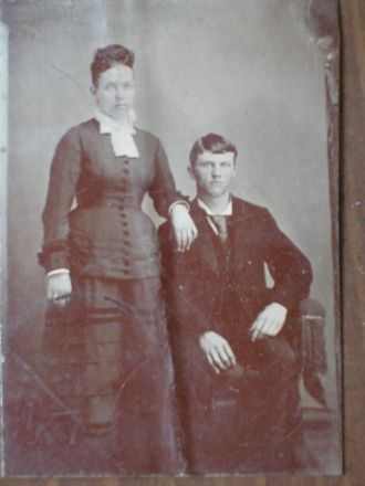 Tintype #1 Unknown Couple