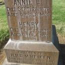 tombstone of Children (2of 9) of Henry B. & Margaret Heiken